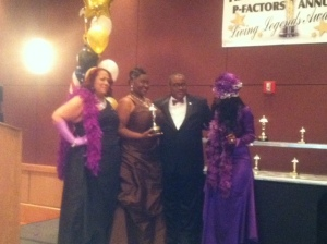 Living Legend Honoree Keesha Rivers with Co-Host Ms. B (left), Presenter Allie Braswell and Host Pam Powell.