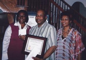 Trish Martin, Michael Kimbrough and his wife, Barbara Kimbrough