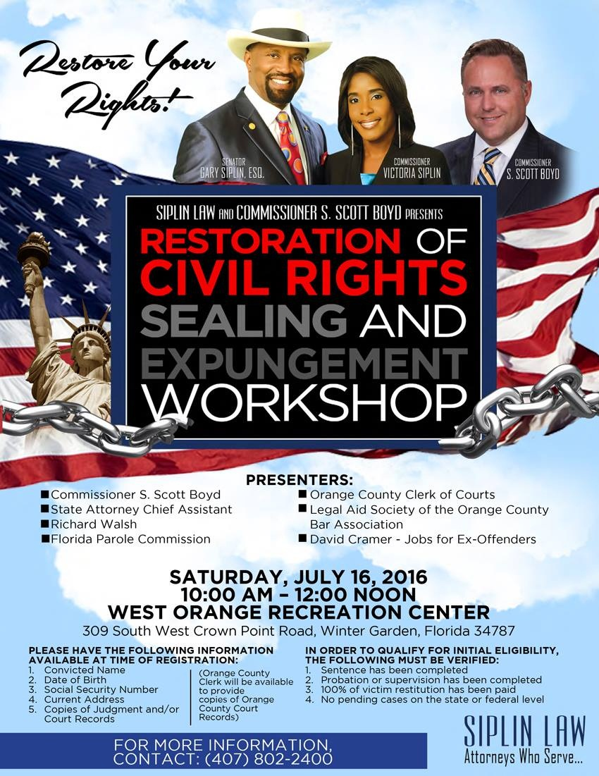 opportunity for fresh start restoration of rights workshop on